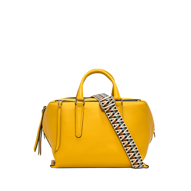 GIANNI CHIARINI ISABELLA MEDIUM YELLOW SHOULDER BAG