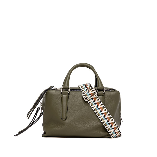 GIANNI CHIARINI: ISABELLA SMALL GREEN SHOULDER BAG