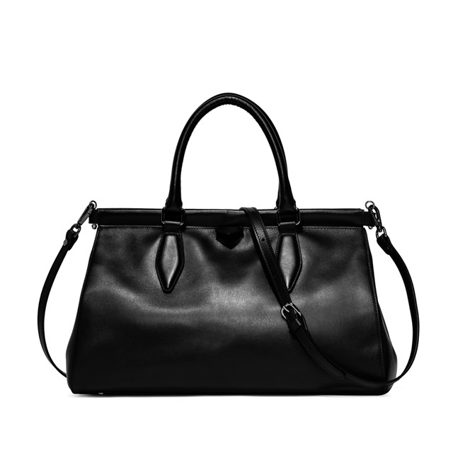 GIANNI CHIARINI ISOTTA LARGE BLACK HANDBAG