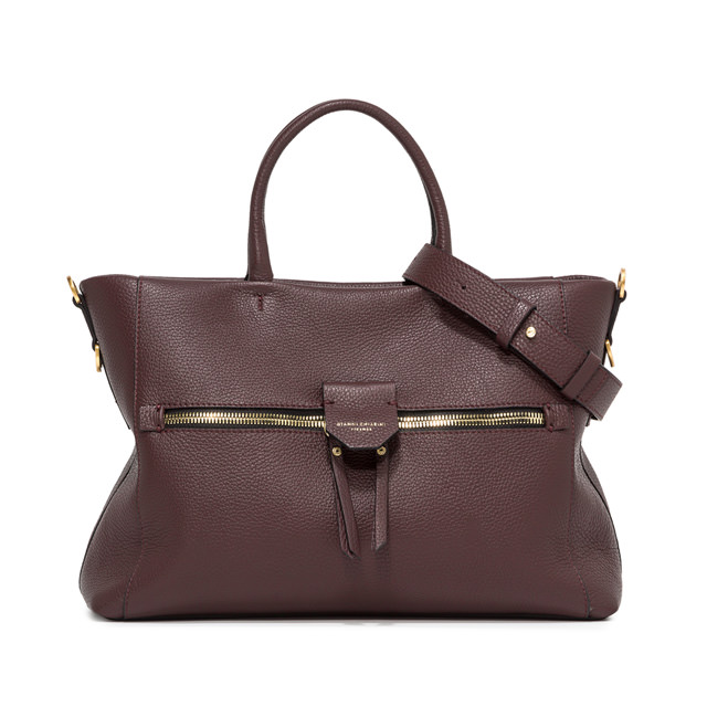 GIANNI CHIARINI LARGE SIZE MARICA HAND BAG COLOR BROWN