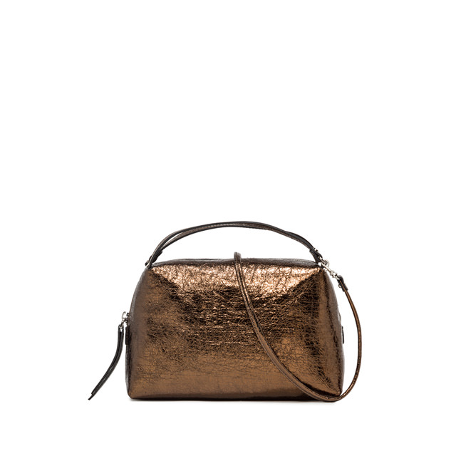 GIANNI CHIARINI: MEDIUM SIZE ALIFA CROSSBODY BAG COLOR BRONZE