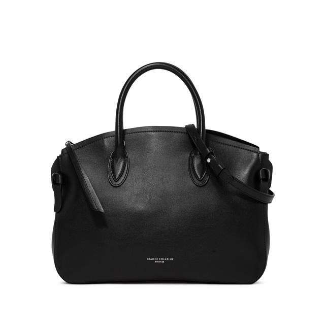 GIANNI CHIARINI LARGE SIZE NUTTY HAND BAG COLOR BLACK