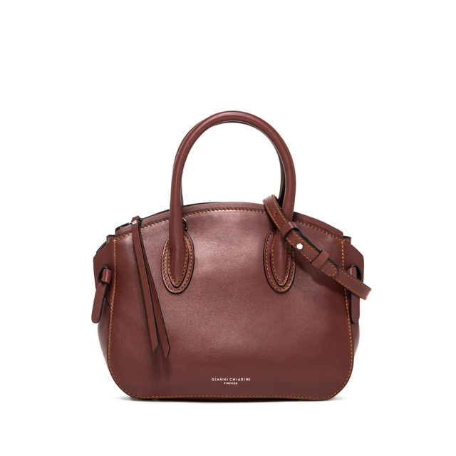 GIANNI CHIARINI MEDIUM SIZE NUTTY HAND BAG COLOR BROWN