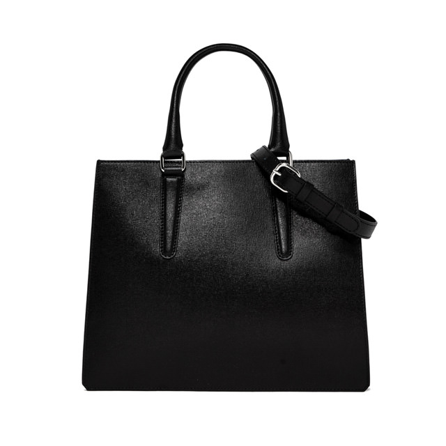 GIANNI CHIARINI PRINCESS LARGE BLACK HANDBAG