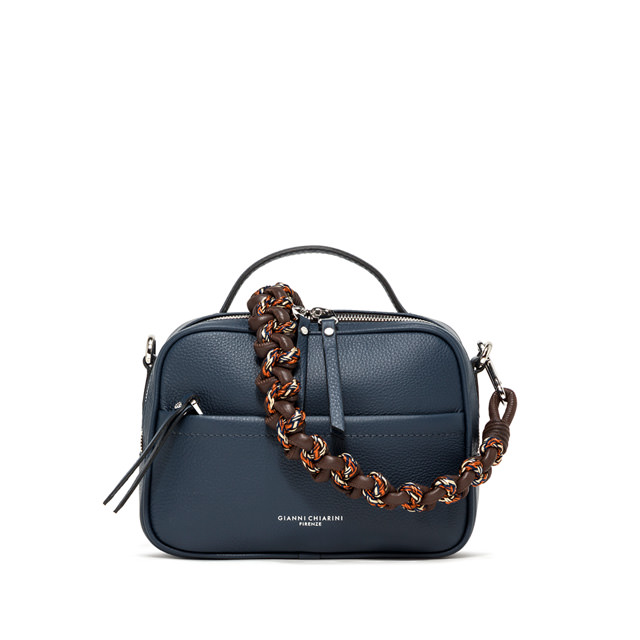 GIANNI CHIARINI: LARGE SIZE RALLY HAND BAG COLOR BLUE