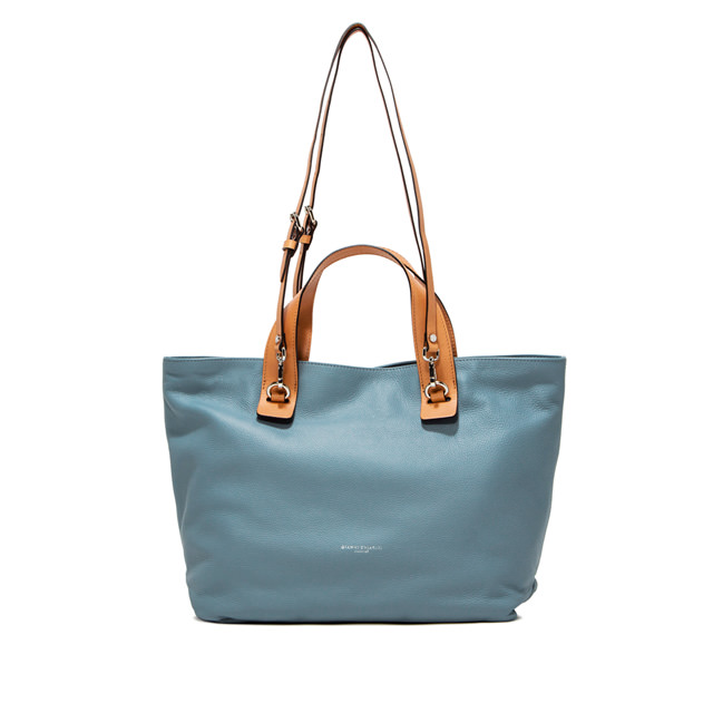 GIANNI CHIARINI LARGE SIZE RIBOT HAND BAG COLOR LIGHT BLUE