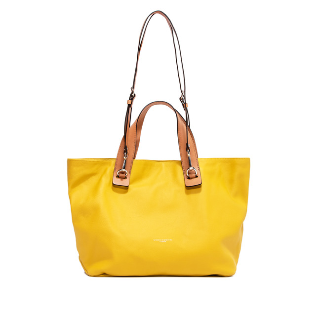GIANNI CHIARINI: LARGE SIZE RIBOT HAND BAG COLOR YELLOW