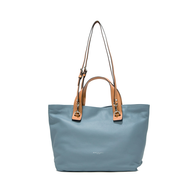 GIANNI CHIARINI MEDIUM SIZE RIBOT HAND BAG COLOR LIGHT BLUE