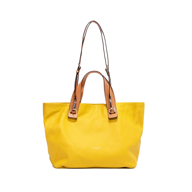 GIANNI CHIARINI: MEDIUM SIZE RIBOT HAND BAG COLOR YELLOW