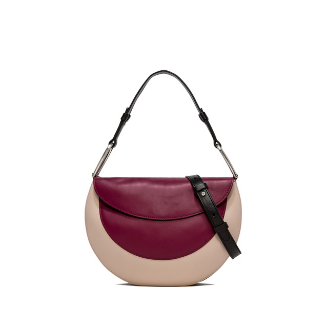 GIANNI CHIARINI: ROSETTA MEDIUM BURGUNDY HANDBAG