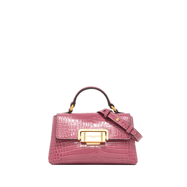 GIANNI CHIARINI: SMALL SIZE ROSSELLA HAND BAG COLOR PINK