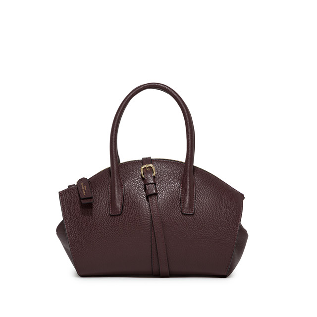 GIANNI CHIARINI: MEDIUM SIZE SHELL HAND BAG COLOR BROWN