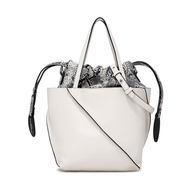 GIANNI CHIARINI MEDIUM SIZE TWIST HAND BAG COLOR WHITE