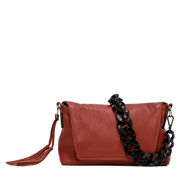 GIANNI CHIARINI LARGE SIZE AFRICA SHOULDER BAG COLOR RED