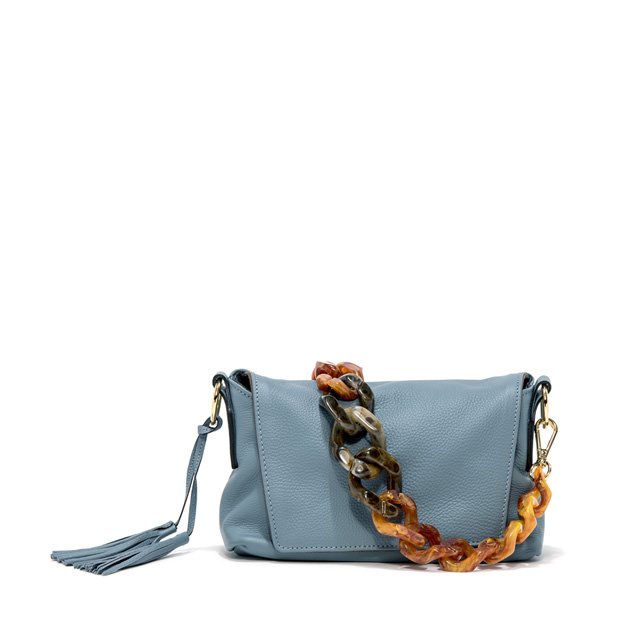 GIANNI CHIARINI: MEDIUM SIZE AFRICA SHOULDER BAG COLOR LIGHT BLUE