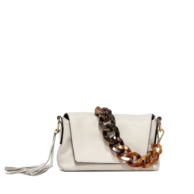 GIANNI CHIARINI: MEDIUM SIZE AFRICA SHOULDER BAG COLOR WHITE