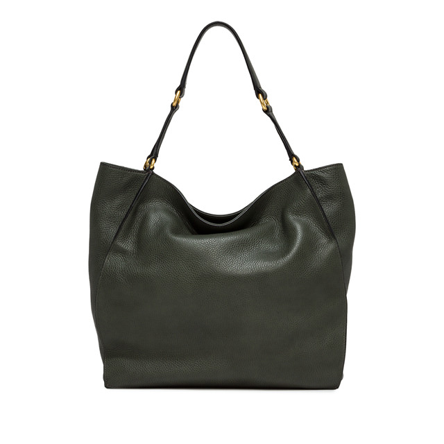 GIANNI CHIARINI LARGE SIZE DAFNE SHOULDER BAG COLOR GREEN