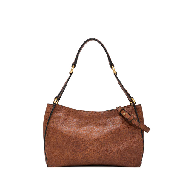 GIANNI CHIARINI SMALL SIZE DAFNE SHOULDER BAG COLOR BROWN