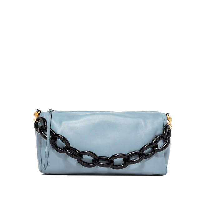 GIANNI CHIARINI LARGE SIZE DELILAH SHOULDER BAG COLOR LIGHT BLUE
