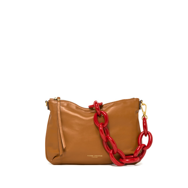 GIANNI CHIARINI SMALL SIZE DELILAH SHOULDER BAG COLOR BROWN