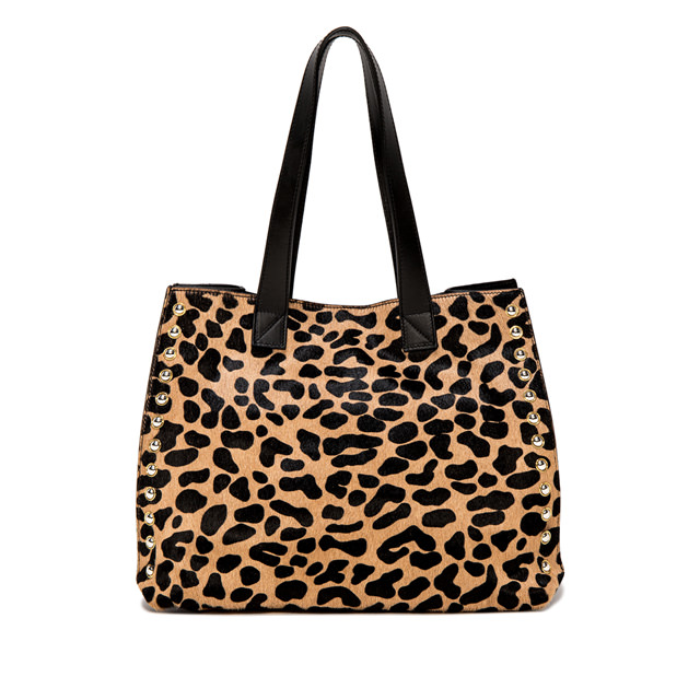 GIANNI CHIARINI LARGE SIZE DOROTEA ANIMALIER PRINT SHOULDER BAG