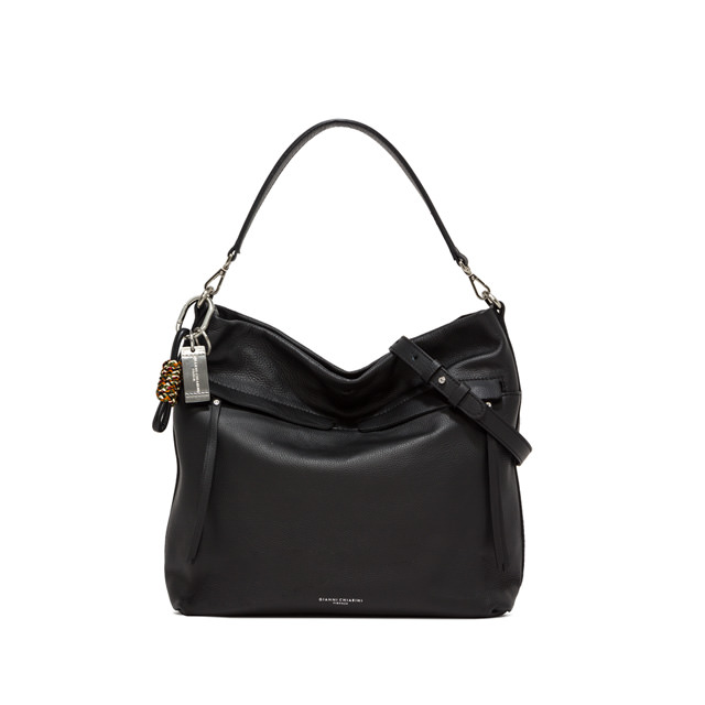 GIANNI CHIARINI: DUNA LARGE BLACK SHOULDER BAG