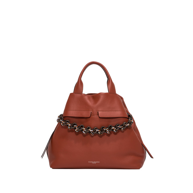 GIANNI CHIARINI LARGE SIZE DUNA SHOULDER BAG COLOR RED