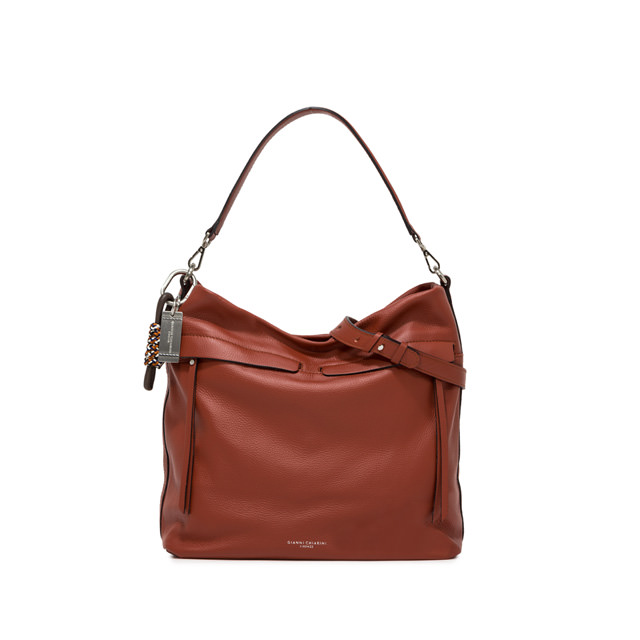 GIANNI CHIARINI: DUNA LARGE RED SHOULDER BAG