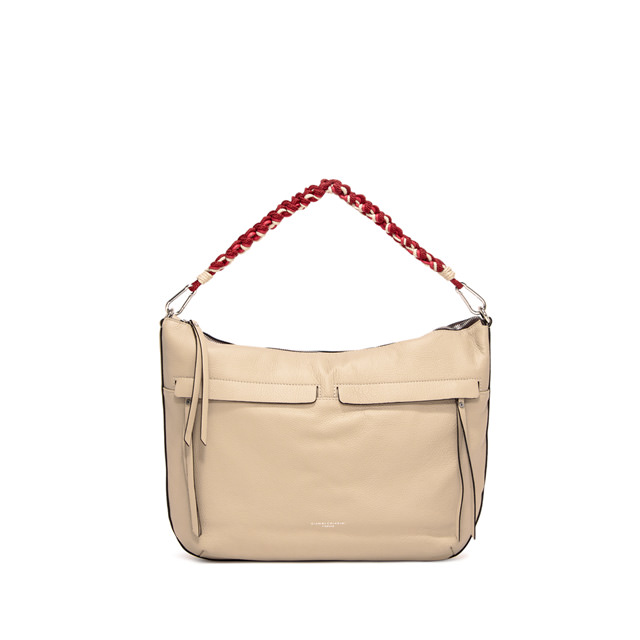 GIANNI CHIARINI MEDIUM SIZE DUNA SHOULDER BAG COLOR BEIGE