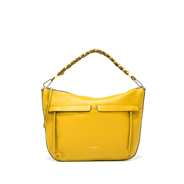 GIANNI CHIARINI MEDIUM SIZE DUNA SHOULDER BAG COLOR YELLOW