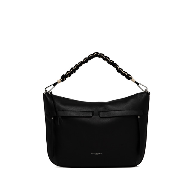 GIANNI CHIARINI MEDIUM SIZE DUNA SHOULDER BAG COLOR BLACK