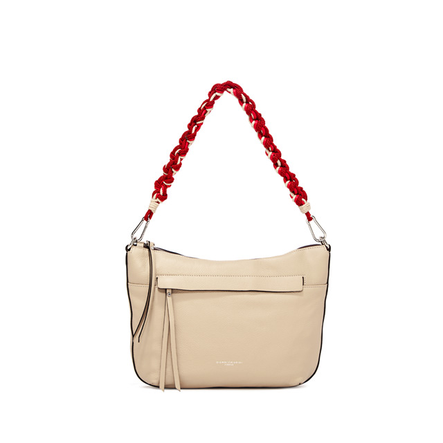 GIANNI CHIARINI: SMALL SIZE DUNA SHOULDER BAG COLOR BEIGE