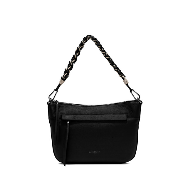 GIANNI CHIARINI: SMALL SIZE DUNA SHOULDER BAG COLOR BLACK