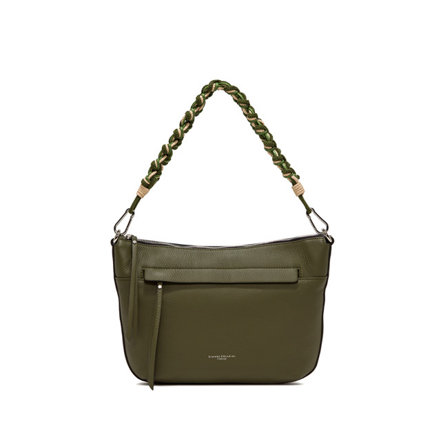 GIANNI CHIARINI: SMALL SIZE DUNA SHOULDER BAG COLOR GREEN