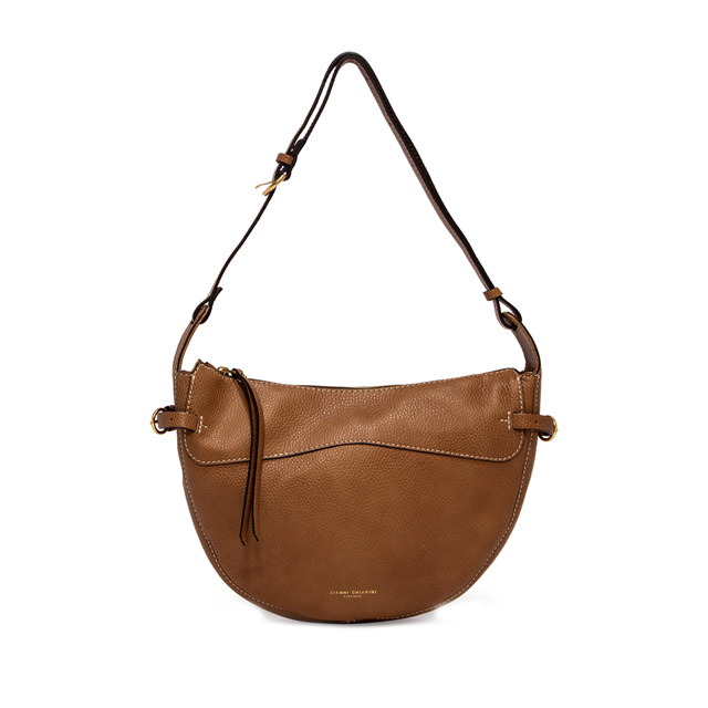GIANNI CHIARINI: SMALL SIZE GINEVRA SHOULDER BAG COLOR BROWN