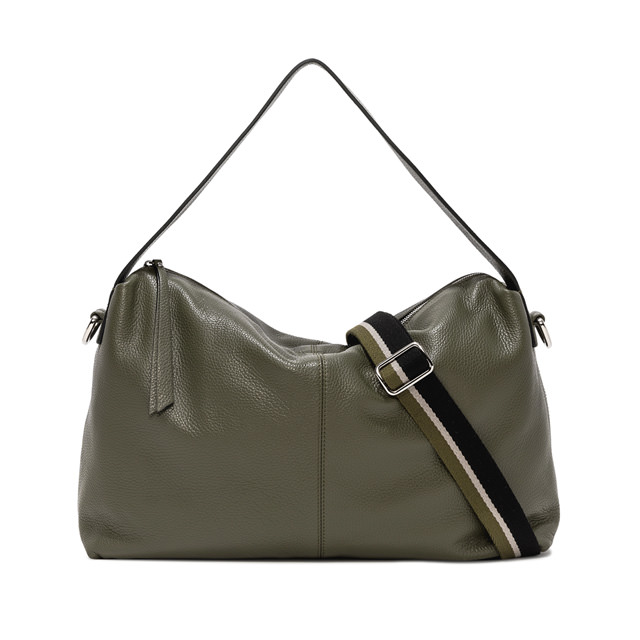 GIANNI CHIARINI LARGE SIZE GIORGIA SHOULDER BAG COLOR GREEN