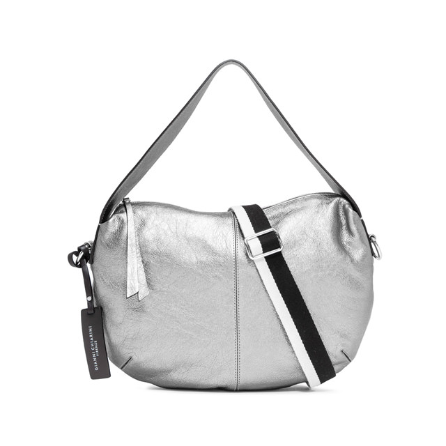 GIANNI CHIARINI MEDIUM SIZE GIORGIA SHOULDER BAG COLOR SILVER