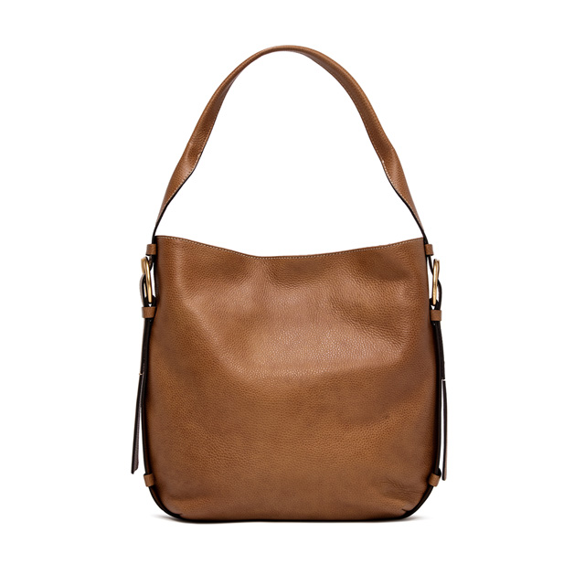 GIANNI CHIARINI HARLEY LARGE BROWN CROSSBODY BAG