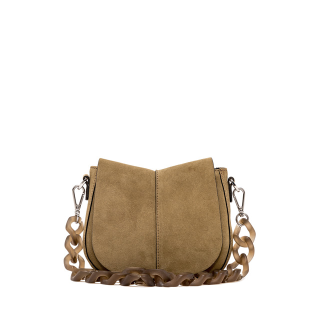GIANNI CHIARINI: HELENA ROUND SHOULDER BAG SMALL COLOR BEIGE