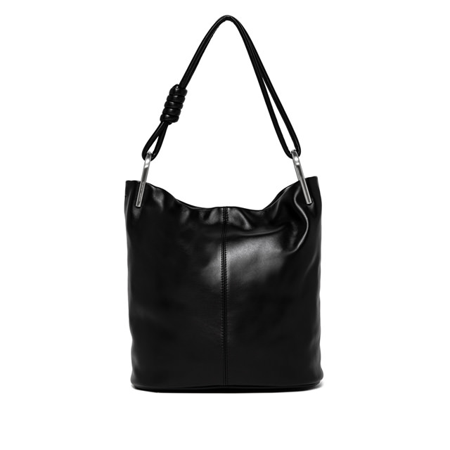 GIANNI CHIARINI IONE LARGE BLACK SHOULDER BAG