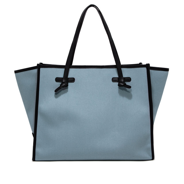 GIANNI CHIARINI: MARCELLA LARGE BLUE SHOULDER BAG