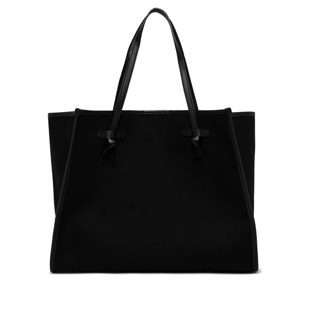 GIANNI CHIARINI: MARCELLA LARGE BLACK SHOULDER BAG