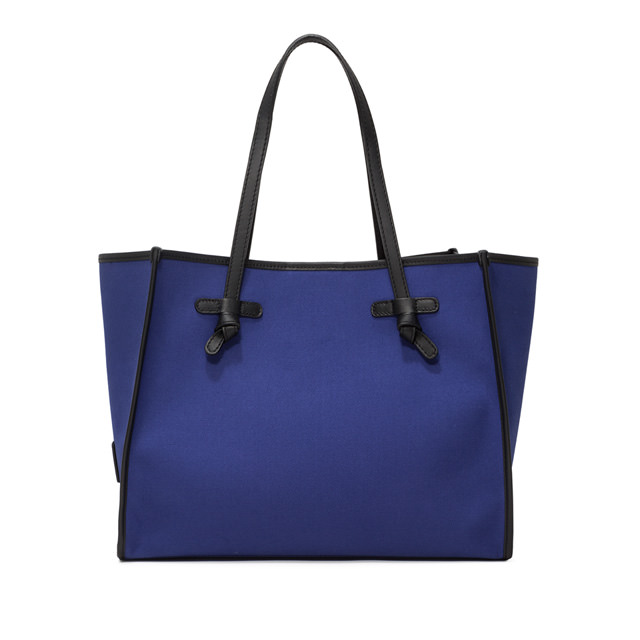 GIANNI CHIARINI: MARCELLA SHOPPING MEDIUM BLUE