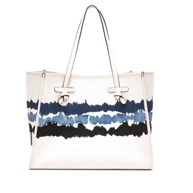 GIANNI CHIARINI: MEDIUM WHITE MARCELLA SHOULDER BAG