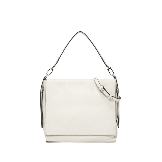 GIANNI CHIARINI JERSEY LINE SHOULDER BAG COLOR WHITE