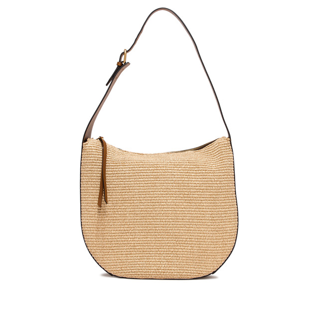 GIANNI CHIARINI: LARGE SIZE PETRA SHOULDER BAG COLOR BEIGE
