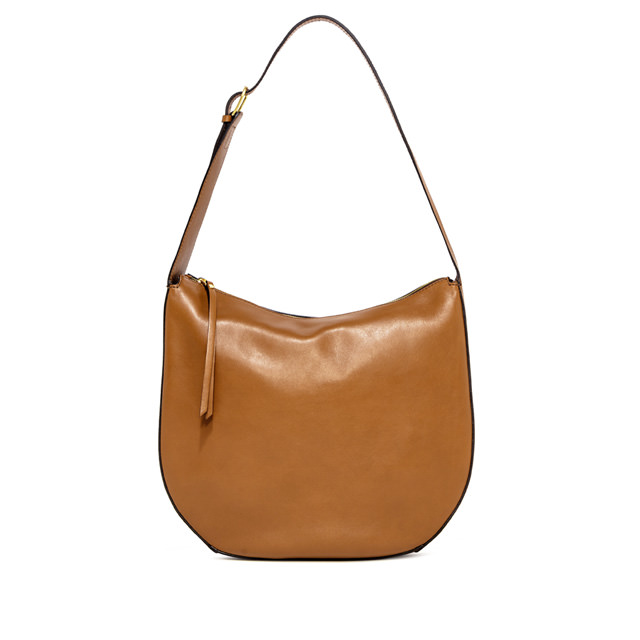 GIANNI CHIARINI PETRA LARGE BROWN SHOULDER BAG