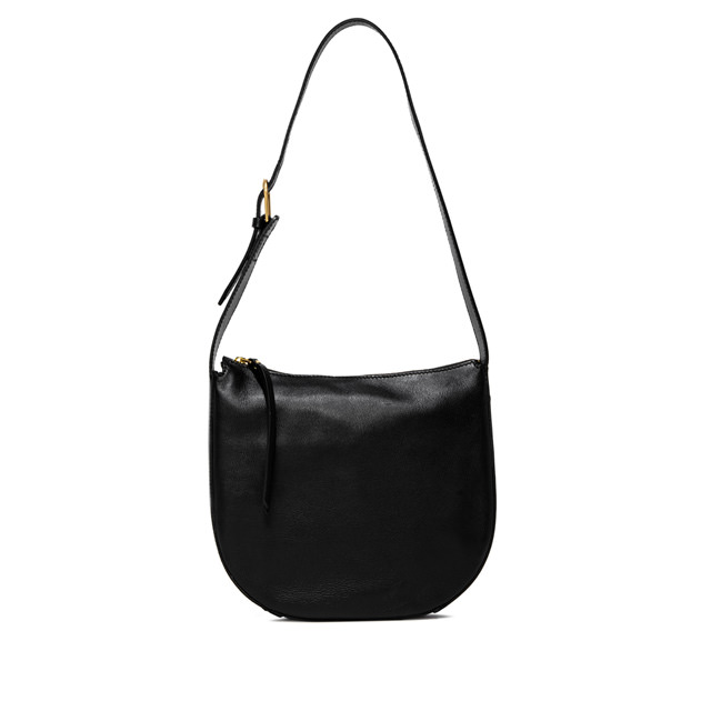 GIANNI CHIARINI: PETRA  MEDIUM  BLACK SHOULDER  BAG