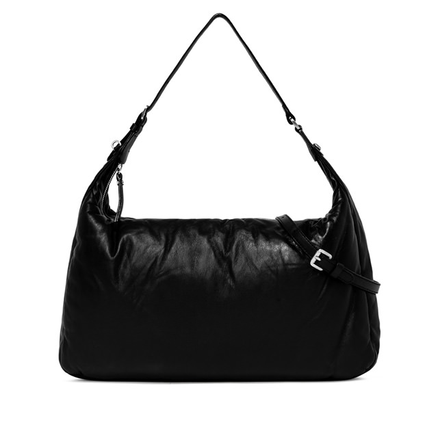 GIANNI CHIARINI PIUMA LARGE BLACK SHOULDER BAG