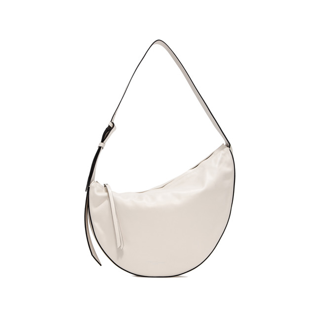 GIANNI CHIARINI MEDIUM SIZE SWAN SHOULDER BAG COLOR WHITE